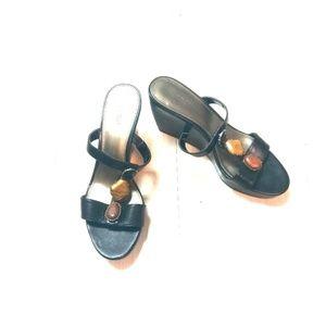 Alfani leather sandal wedge shoes sz 9